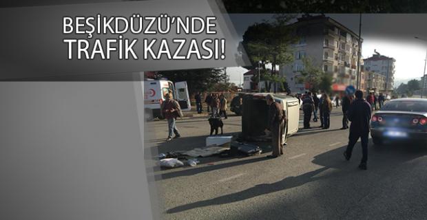 Beşikdüzü'nde trafik kazası; 2 yaralı!