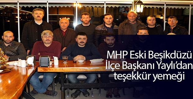 MHP Beşikdüzü eski ilçe başkanı Yaylı'dan teşekkür yemeği