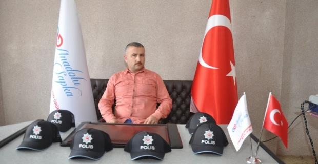 Polis şapkaları Ağasar'da hazırlanıyor
