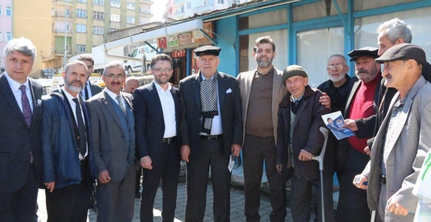 Saadet Partisi Trabzon Belediye Başkan Adayı Hasan SAKA'ya Vakfıkebirde büyük ilgi