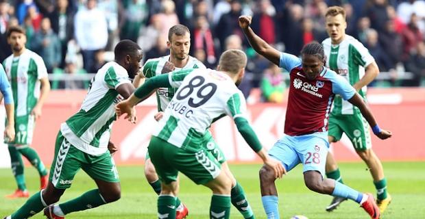 Konyaspor - Trabzonspor maç sonucu: 2-2