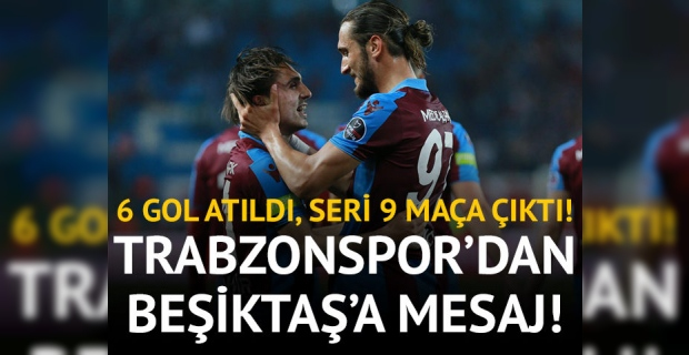 Trabzon Kayseri'yi devirdi, Beşiktaş'a mesaj verdi!