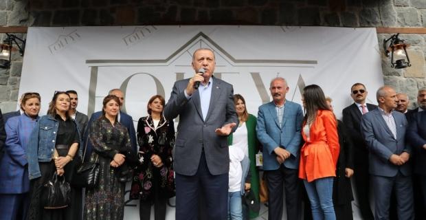 Cumhurbaşkanı Recep Tayip Erdoğan Tonya da