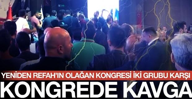 Trabzon Refah Partisi Kongresinde kavga çıktı