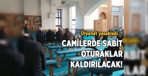Camilerde Oturacak ile namaz kılmak yasaklandı.