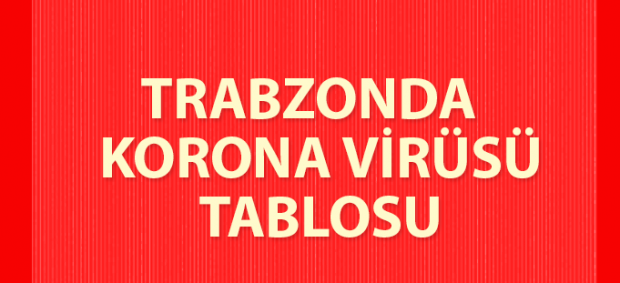 Trabzon da korona virüsü tablosu