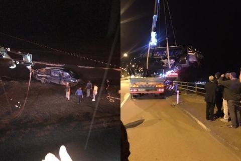 Vakfıkebir Yalıköy mevkiinde trafik kazası