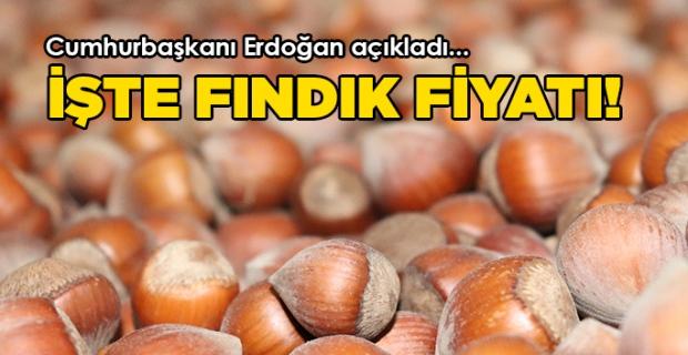Cumhurbaşkanı Erdoğan bu yılın fındık fiyatlarını açıkladı.