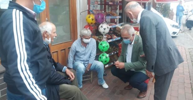 Vakfıkebir CHP ilçe yönetiminin esnaf ziyareti
