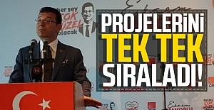 Ekrem İmamoğlu projelerini anlattı