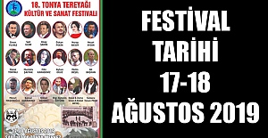 TONYA FESTİVAL TARİHİ 17-18 AĞUSTOS 2019