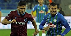 Trabzonspor Rize de yüzdü 2-1