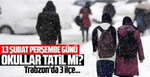 Trabzon'da 3 ilçede tatil devam ediyor