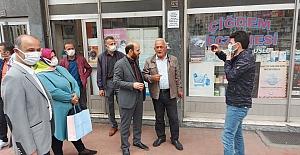 Trabzon Vakfıkebir MHP ilçe yönetiminden esnafa ziyaret